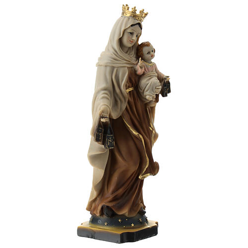 Statue Our Lady of Mount Carmel resin 20 cm 3