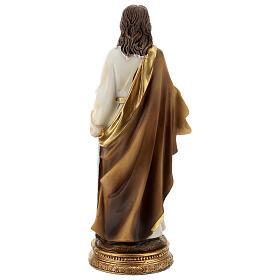 San Paolo capelli castani statua resina 21 cm s5