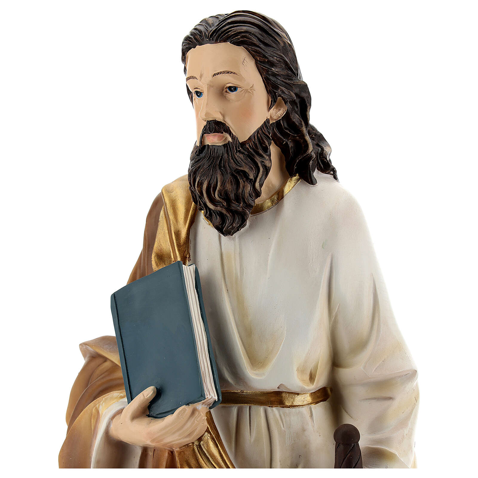 Statua San Paolo Tarso base dorata resina 32 cm 4