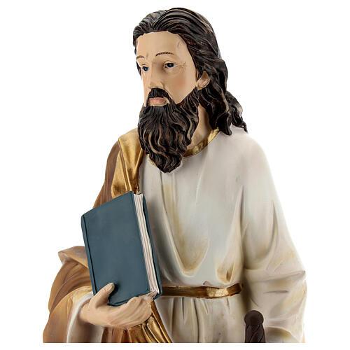 Statua San Paolo Tarso base dorata resina 32 cm 2