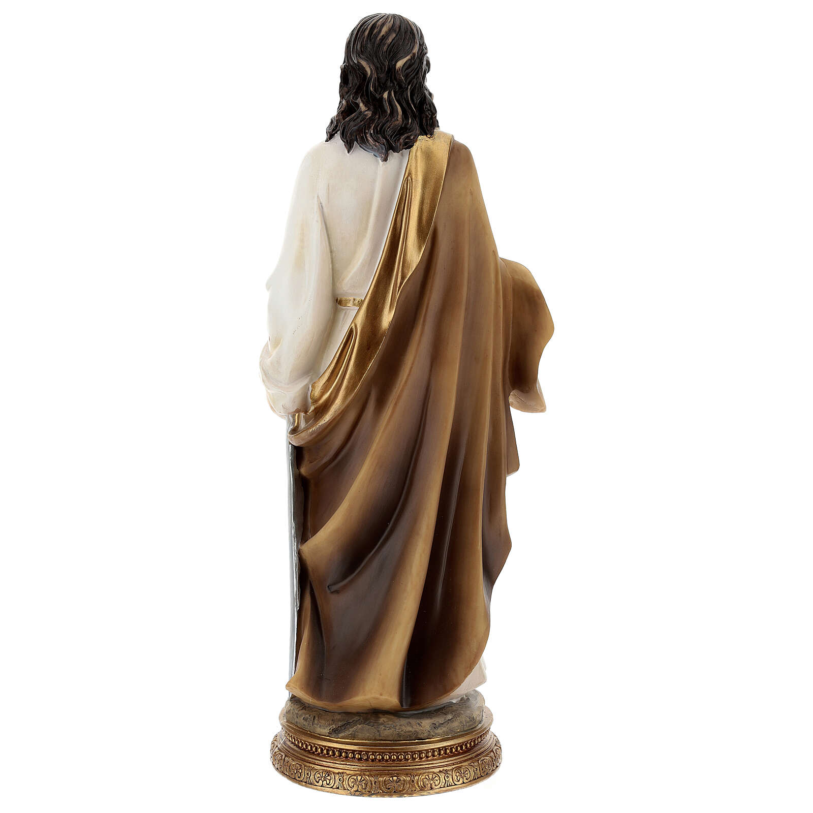 St Paul of Tarsus statue, golden base resin 32 cm 4