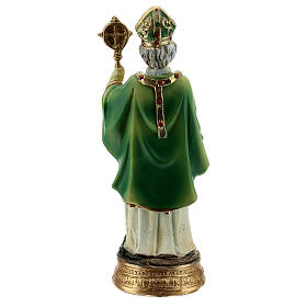 Saint Patrick crosse statue résine 13 cm s4
