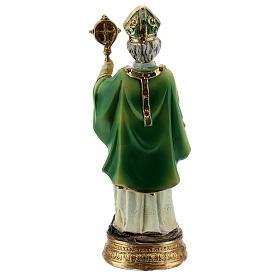 San Patrizio pastorale statua resina 13 cm s4