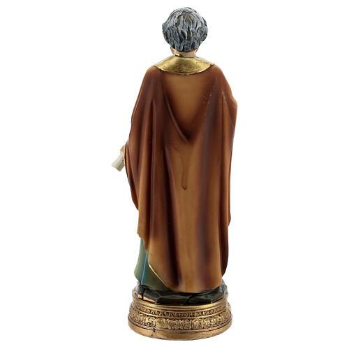 Saint Pierre clés livre statue résine 12 cm 4