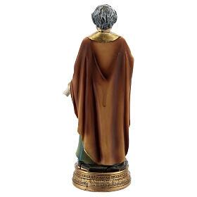 San Pietro chiavi libro statua resina 12 cm s4