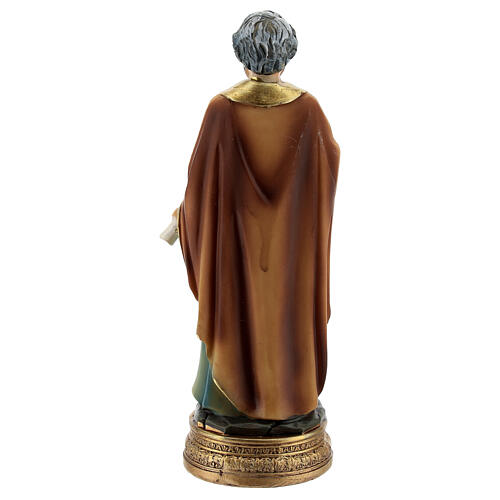 San Pietro chiavi libro statua resina 12 cm 4
