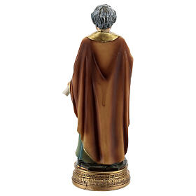Saint Peter statue with key and scroll, resin 12 cm s4