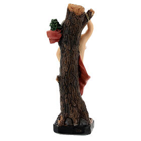 São Sebastião árvore imagem resina 20 cm s4
