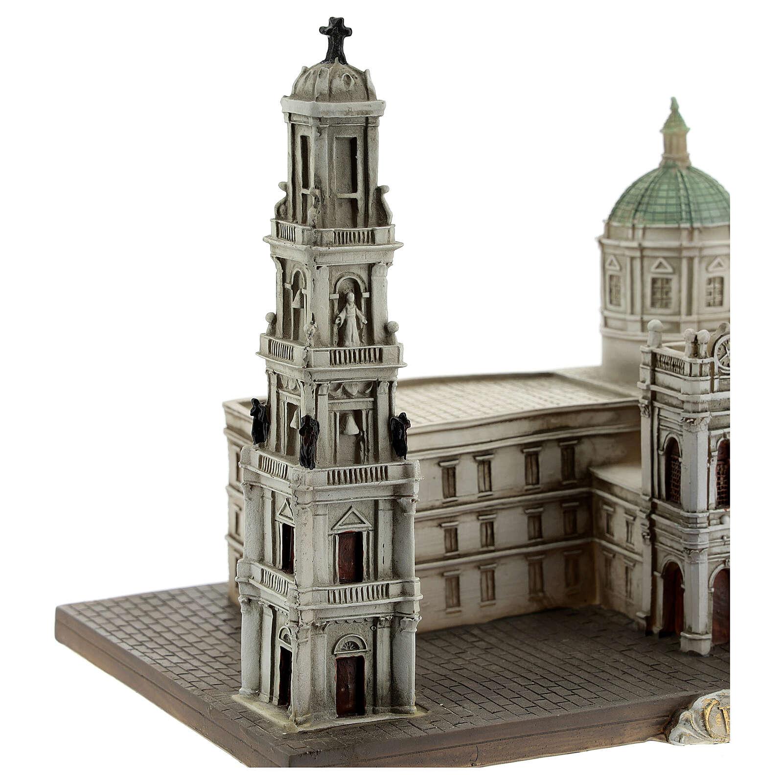 Beata Virgen Rosario Pompeya réplica 15x20x15 resina 4
