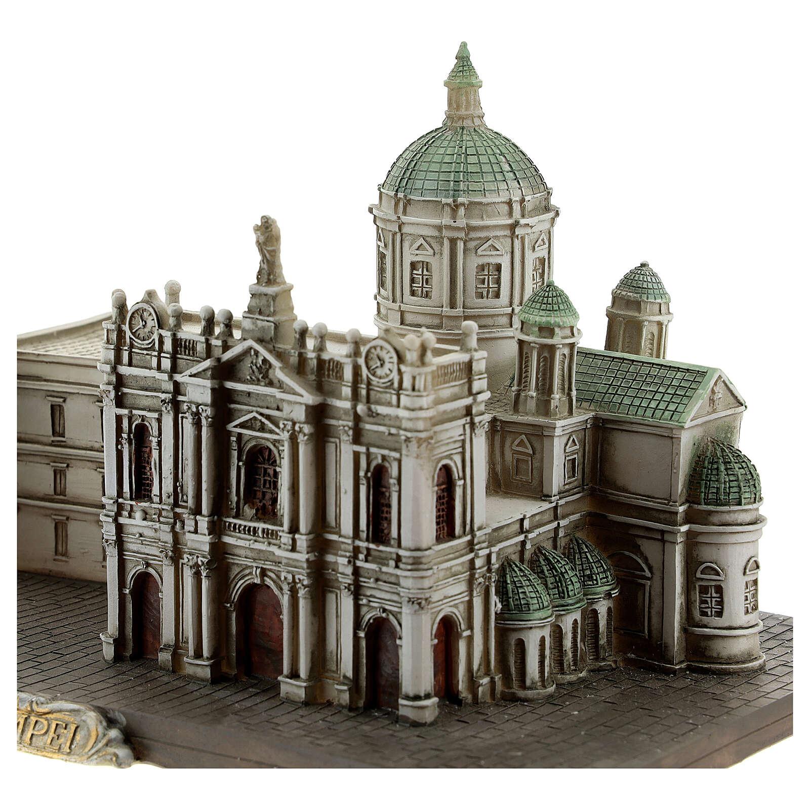 Santuário de Nossa Senhora do Rosário de Pompeia miniatura resina 15x22x13 cm 4