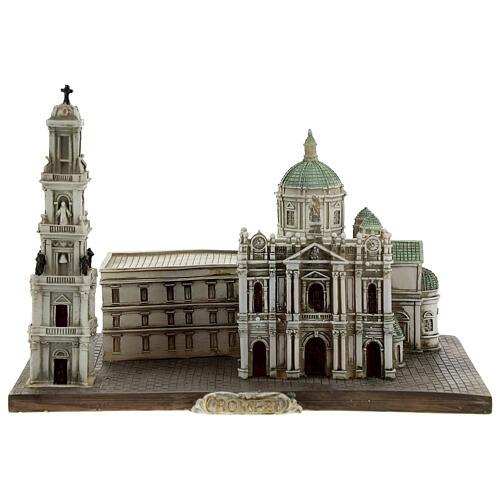 Santuário de Nossa Senhora do Rosário de Pompeia miniatura resina 15x22x13 cm 1