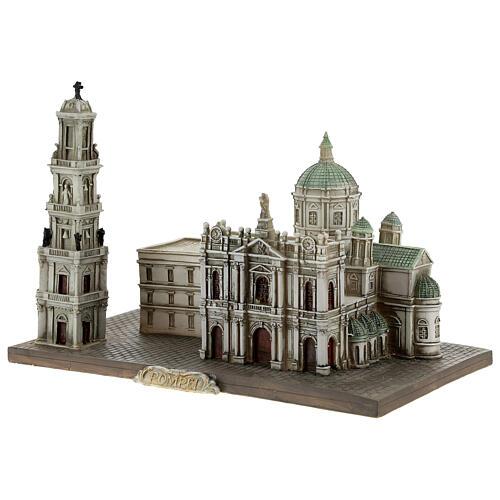 Santuário de Nossa Senhora do Rosário de Pompeia miniatura resina 15x22x13 cm 3