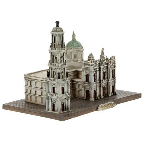 Santuário de Nossa Senhora do Rosário de Pompeia miniatura resina 15x22x13 cm 5