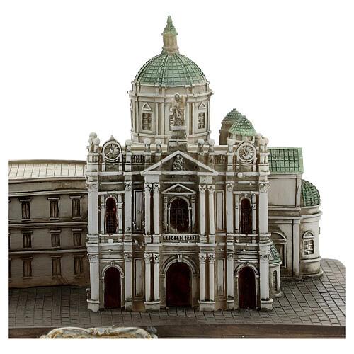 Santuário de Nossa Senhora do Rosário de Pompeia miniatura resina 15x22x13 cm 6