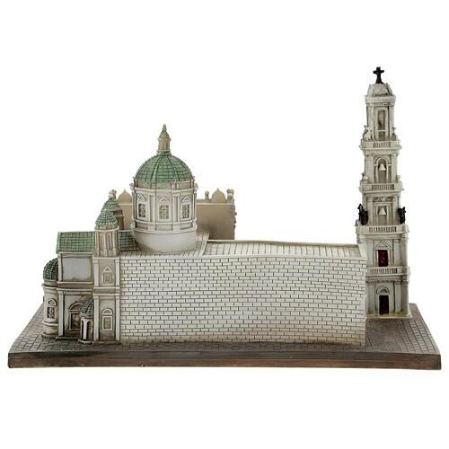 Santuário de Nossa Senhora do Rosário de Pompeia miniatura resina 15x22x13 cm 7