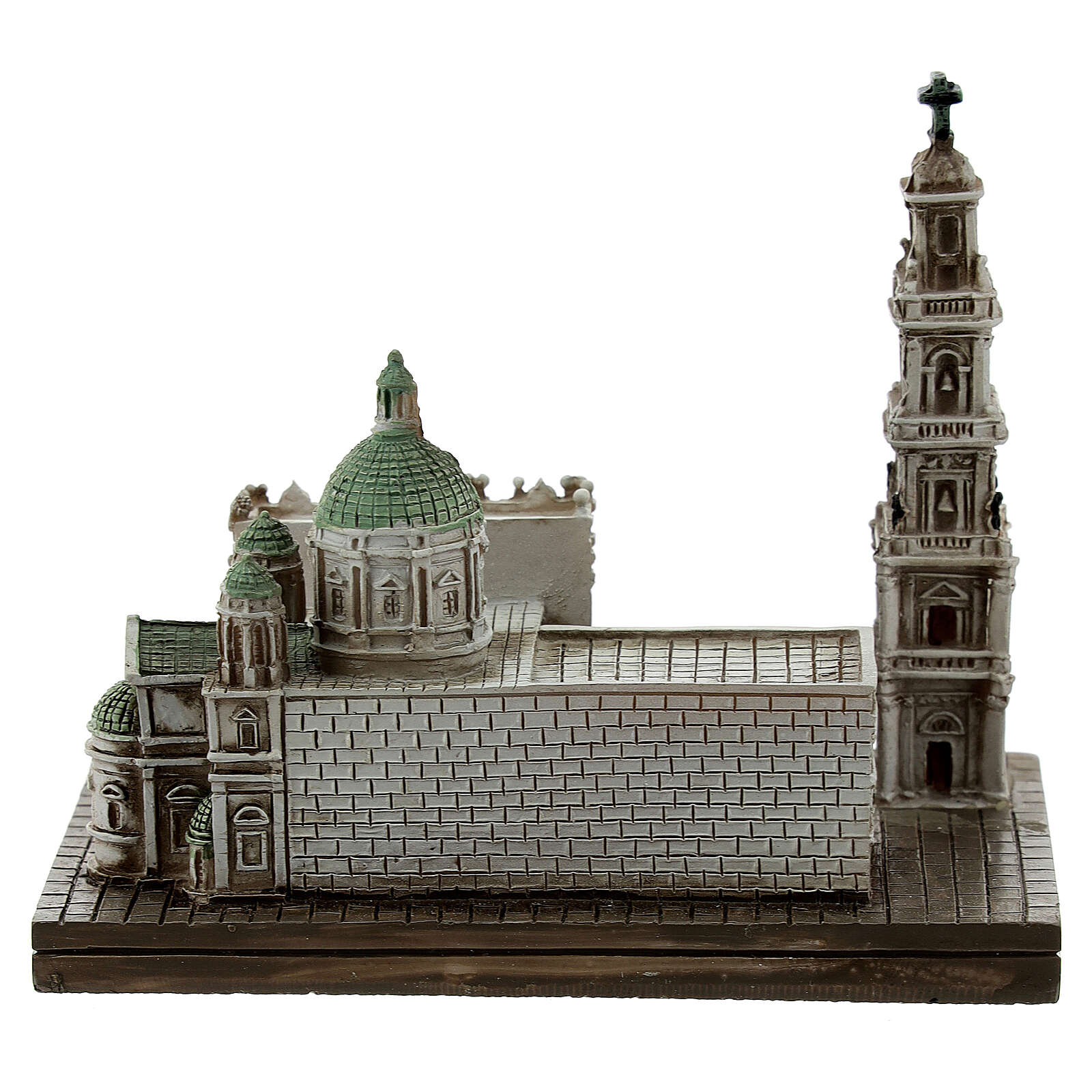 Santuario Beata Virgen Rosario Pompeya resina 10x10x5 cm 4