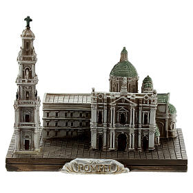Santuario Beata Virgen Rosario Pompeya resina 10x10x5 cm s1