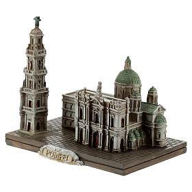 Santuario Beata Virgen Rosario Pompeya resina 10x10x5 cm s2