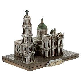 Santuario Beata Virgen Rosario Pompeya resina 10x10x5 cm s3