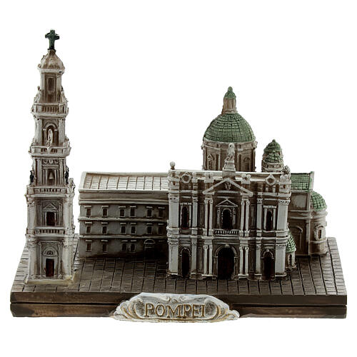 Santuario Beata Virgen Rosario Pompeya resina 10x10x5 cm 1