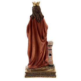 St Barbara statue with tower, in resin 15 cm s4