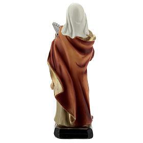 Santa Cecilia órgano estatua resina 15 cm s4