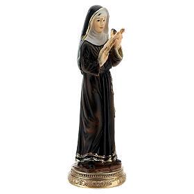 Santa Rita de Cássia com crucifixo imagem resina 10,5 cm