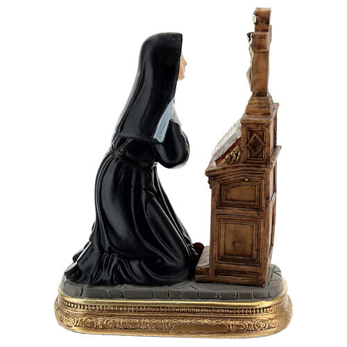 Kneeling St Rita statue, 12 cm resin 5