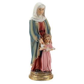 Sant'Anna con Maria bambina statua resina 10 cm s2