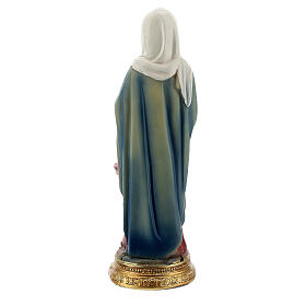 Sant'Anna con Maria bambina statua resina 10 cm s3