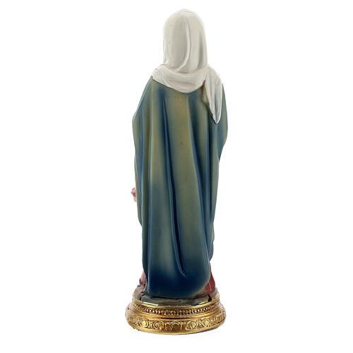 Sant'Anna con Maria bambina statua resina 10 cm 3