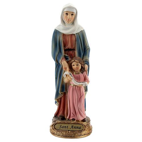 Imagem resina Santa Ana com a Virgem Maria menina 13,5 cm 1
