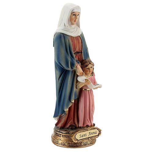 Imagem resina Santa Ana com a Virgem Maria menina 13,5 cm 3