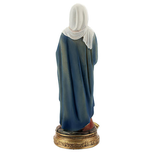 St Anne statue with Mary, resin 13 cm 4