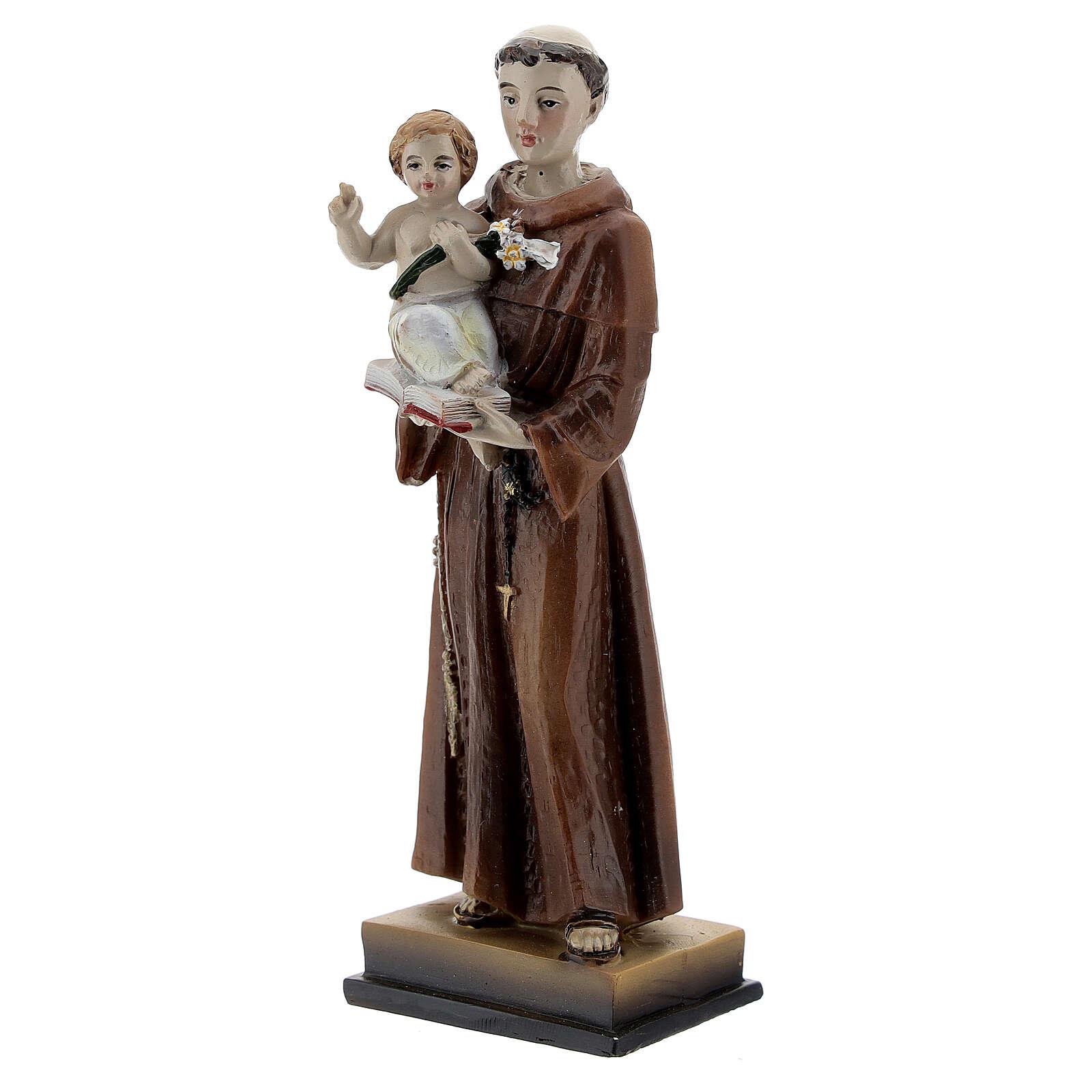 San Antonio y Niño estatua resina 12 cm 4