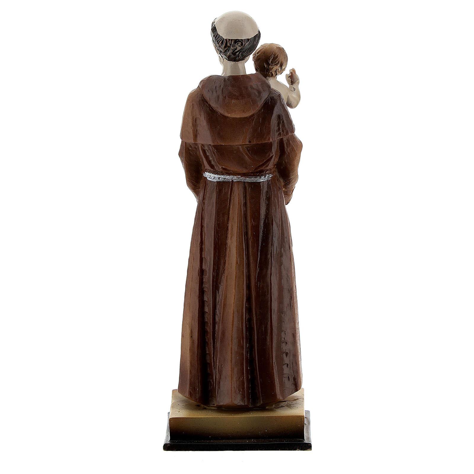 Sant'Antonio e Bambino statua resina 12 cm 4