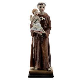 Santo António de Lisboa com Menino Jesus imagem resina 12 cm s1