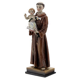 Santo António de Lisboa com Menino Jesus imagem resina 12 cm s2