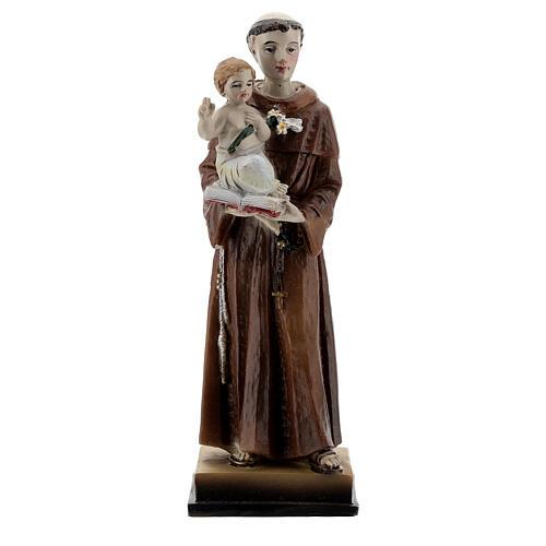 Santo António de Lisboa com Menino Jesus imagem resina 12 cm 1