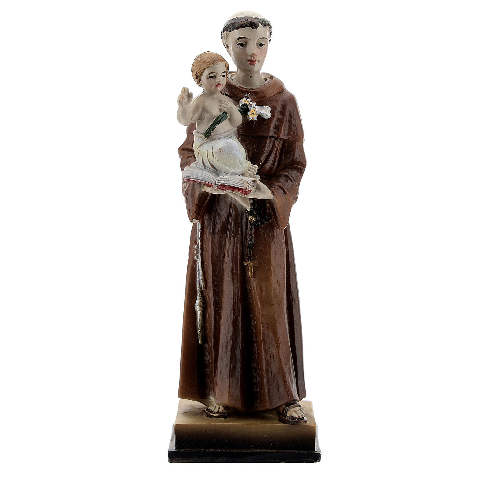 St Anthony and Child resin statue, 12 cm 4