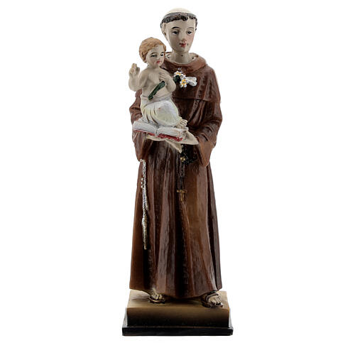 St Anthony and Child resin statue, 12 cm 1