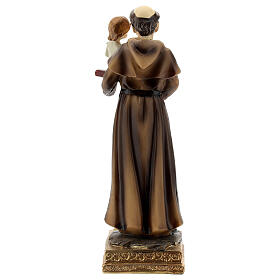 Statue of St Anthony Padua 15 cm, golden resin s4