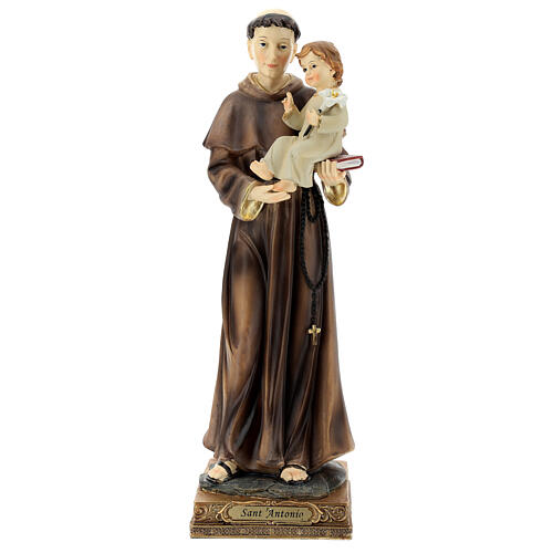 Estatua San Antonio Padua visión Niño resina 32 cm 1