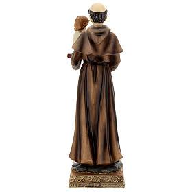 Statua Sant'Antonio Padova visione Bambino resina 32 cm s6