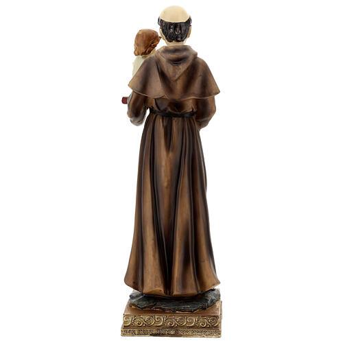 Statua Sant'Antonio Padova visione Bambino resina 32 cm 5