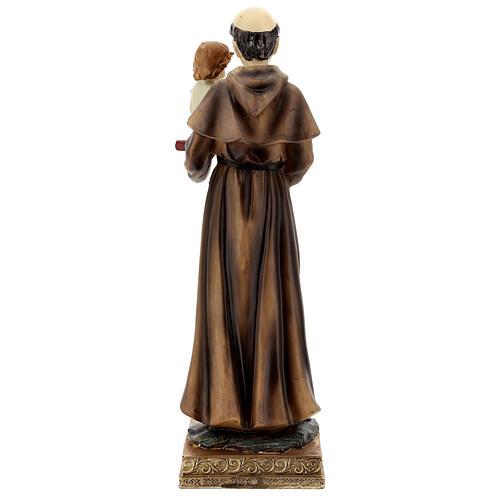 Statua Sant'Antonio Padova visione Bambino resina 32 cm 6