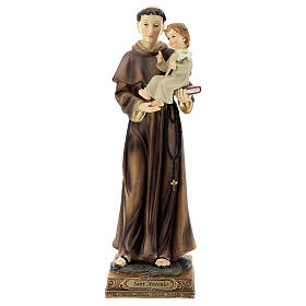 Saint Anthony of Padua with Child statue, 32 cm resin s1