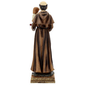 Saint Anthony of Padua with Child statue, 32 cm resin s6