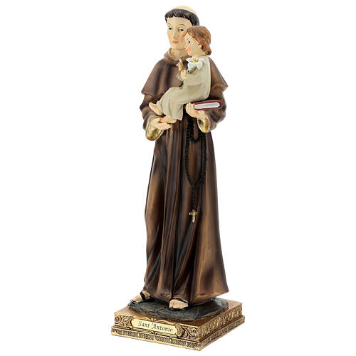 Saint Anthony of Padua with Child statue, 32 cm resin 3