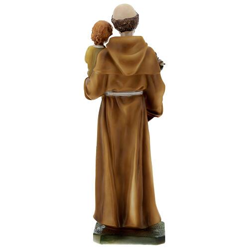 Santo António de Lisboa com Menino Jesus veste amarela imagem resina 30 cm 5